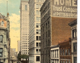 Vintage Postcard...Pennsylvania, Pittsburgh, Sixth Avenue, Looking East...Used, 1912...no. PA0006