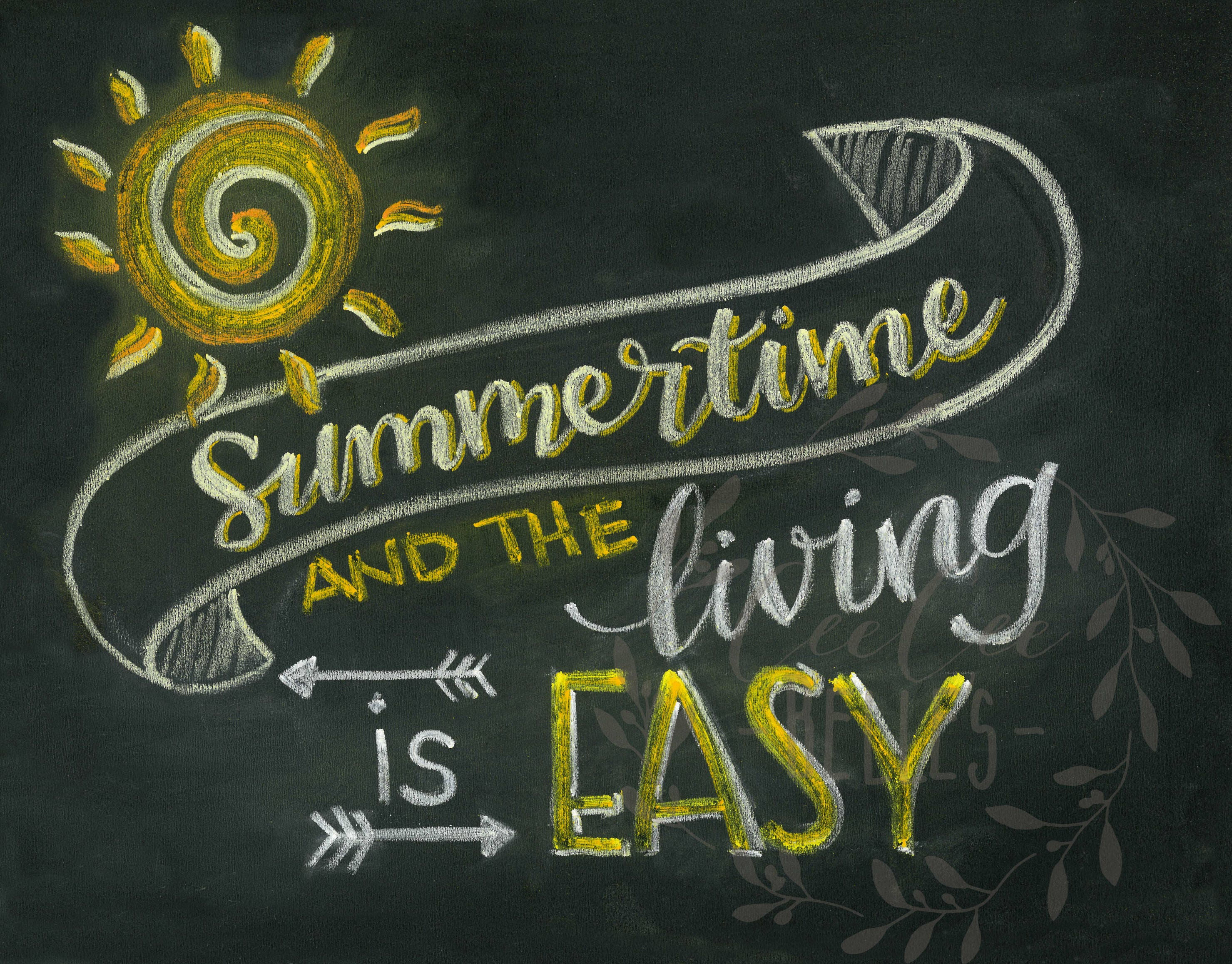 Image result for summertime and the livin is easy chalkboard