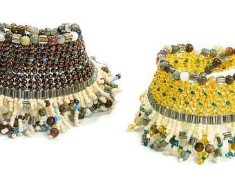 African Jewelry, African Bracelet, Ethnic Bracelet, Ethnic Jewelry, Beaded Fringe Bracelet, Gift for Her, Woven Bracelet, Tribal Bracelet
