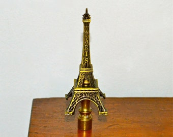 Eiffel Tower Vintage Lamp Finial, Tall, with a French Accent
