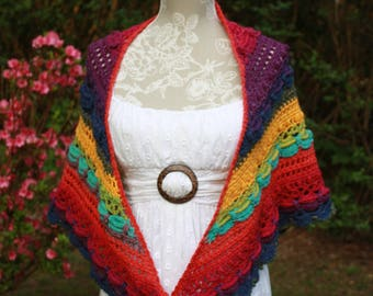 Timeless multi colored Shawl- Free Shipping
