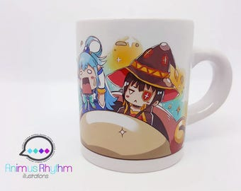 Mini Ceramic Mug: KonoSuba anime