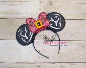 Muscles Ears, headband Ears, Costume,  Mouse Ears, vacation, Family vacation, Mouse Ears headband