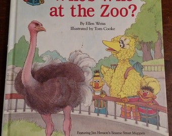 Vintage Sesame Street Book Club Who's Who at the Zoo Children's Book
