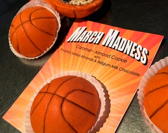 Delivered Cookies for March Madness;Twelve NCAA inspired College Basketball Party Cookies final four, the Big Dance, Selection Sunday, ESPN