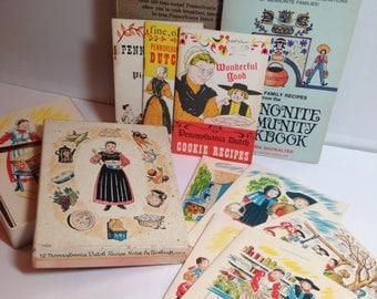 Pennsylvania Dutch Blank Recipe Note Cards & Books