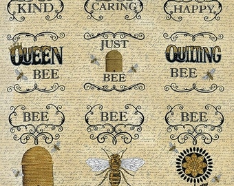 On Sale BEE CREATIVE Fabric Panel by Deb Strain for Moda - One Fabric Panel or One Yard - 19750 11