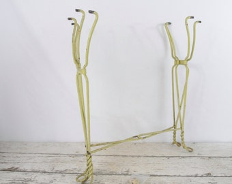 Antique Metal Wire Twist Leg Ice Cream Parlor Table Legs