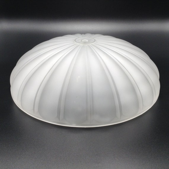 Frosted Ceiling Light Melon Style Globe R.Q.G. Replacement