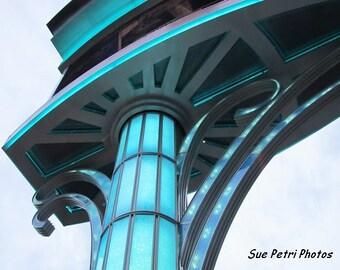 Fine Art Photograph, Teal Blue Wall Art, Industrial Chic, Industrial Wall Art, Loft Art, Turquoise Wall Art, Turquoise, Architectural Photos