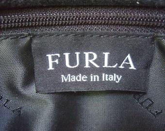 FURLA Italy Stylish Ebony Leather Shoulder Bag