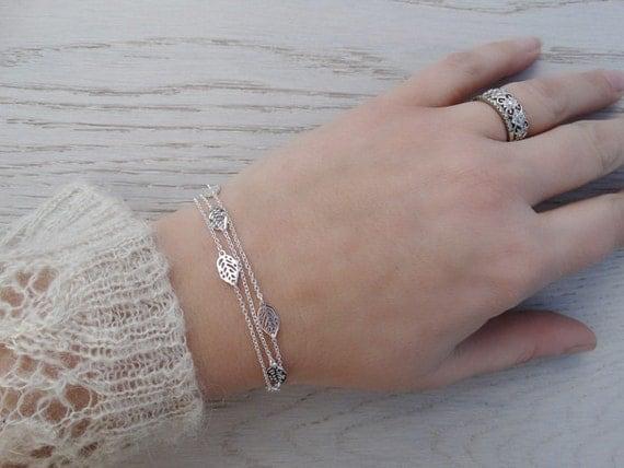 Silver Leaf Wrap Bracelet Or Necklace - Sterling Silver