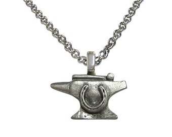Anvil Blacksmith Pendant Necklace