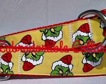 Christmas Dog Collar Christmas Grinch dog collar