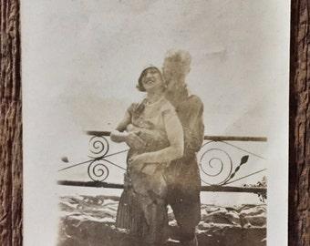 Original Antique Photograph Lover's Bridge