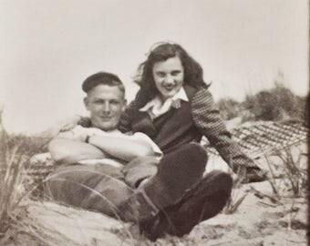 Original Vintage Photograph Dolores & Bill 1946