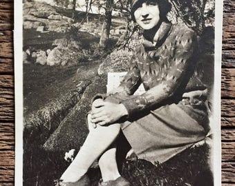 Original Vintage Photograph Flapper Fashion
