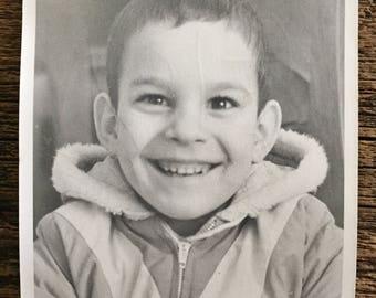 Original Vintage Photograph Brilliant Smile