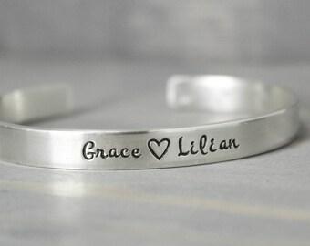 Mother Bracelet, Kids Name Bracelet, Personalized Jewelry, Mommy Bracelet, Handstamped Jewelry, Personalized Jewelry, Birthday