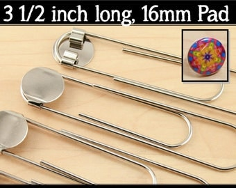 500 - DIY Jumbo Paper Clip BookMark Kits with Optional  Metal INSERTS - for use with MAGNET Back Buttons.
