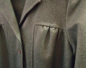 Vintage 1960s Blue Lapel Front Pocket Blazer