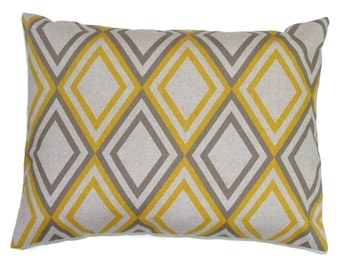 BROWN YELLOW PILLOW .16x20, 16x24 or 12x20 inch.Pillow Cover.Decorative Pillows.Home Decor.Brown Home Decor.Yellow.Gold..Cushion.Housewares