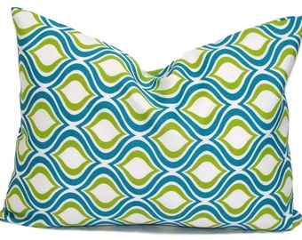 TURQUOISE PILLOW SALE.12x16 or 12x18 inch.Pillow Covers.Decorative Pillows.Housewares.Turquoise Pillow.Green.Teal.Throw Pillow.Outdoor.cm