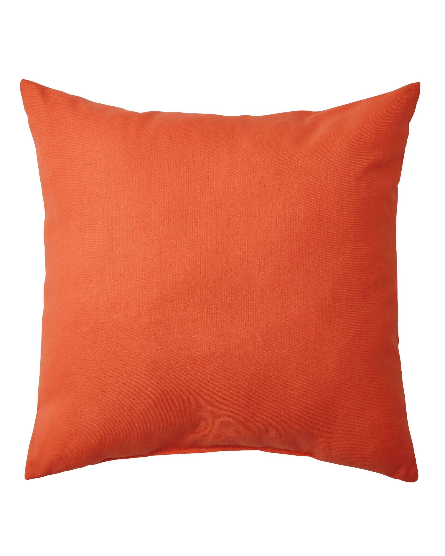 Orange Decorative Bed Pillows : Solid Orange Outdoor Pillow Orange Pillow Cover Decorative