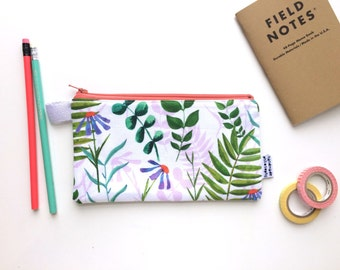 Happy Plants Divided Pencil Case (handmade philosophy's pattern)