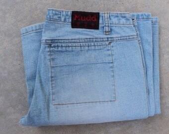 """Mudd wide flair leg jeans size 9  ( 32"""" waist) vintage denim"""