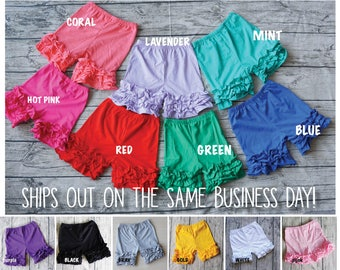 SALE! Ruffle Shorts Ruffle Shorties Toddler Shorts Girls Shorts Baby Shorts Baby Girl Shorts Kids Shorts Summer Shorts