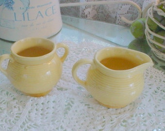 Vintage Sugar Creamer USA Pottery Cottage Prairie Farmhouse Chic
