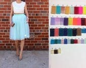 CUSTOM SET for BRIDESMAIDS: 7 tulle skirts in coral and mind green