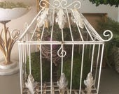 Vintage Wire Birdcage Iron Cage Box Metal Bird Cage