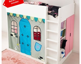 Knights bed Playhouse / Bed tent / Loft bed curtain - free design and colors customization