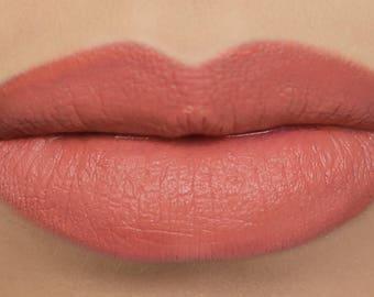 "Matte Lipstick - ""Pumpkin"" (light salmon orange vegan lipstick)"