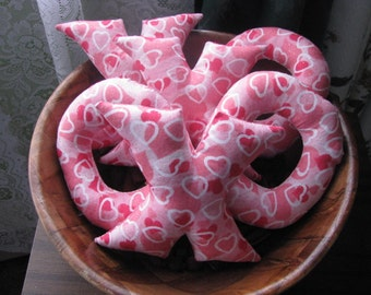 Valentine, x's and o's, Love, hostess gift, gifts for her, handmade, handsewn