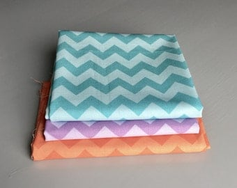 Riley Blake Chevron Fabric Remnant Bundle     Fabric Destash