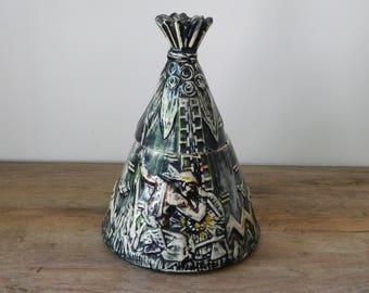 Vintage McCoy Teepee Cookie Jar.