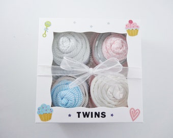 Twin Boy Girl  - Twin Baby Gift  - 12 piece set Baby gift for Twin Boy and Girl