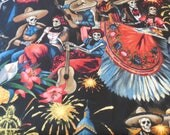 Fiesta De San Marcos / Midnight / Day of The Dead - Alexander Henry Fabric 1 Yard