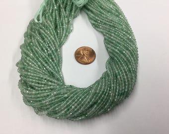Green Quartz Rondelles Faceted