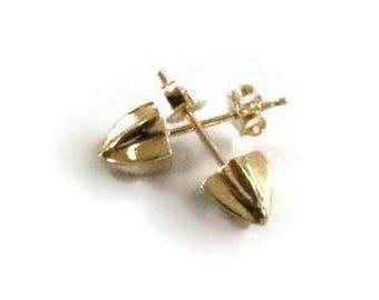 14K Spike Earring Single Solid  Gold Spike Stud Earrings for Men , Small Gold Studs, Mens Earrings, Artisan Handmade  by Sheri Beryl