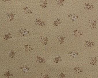 Cotton Quilting Fabric, Joan Kessler Fabric, Cotton Floral Fabric Remnant, Sewing Fabric, Cotton Fabric - 7/8 Yard Plus - CFL2231