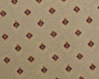 Cotton Quilting Fabric, Sewing Fabric, Southwest Fabric, Medallion Fabric, Cream Fabric by the Yard, Geometric - 1 1/2 Yard - CFL2247