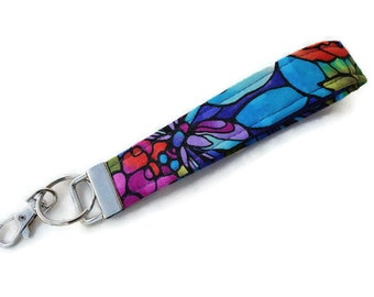 Key Fob, Keychain, Wristlet, Key Chain, Wristlet for Keys with Large Lobster Clasp. READY TO SHIP