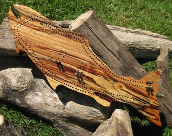 Driftwood Fish Cribbage Board