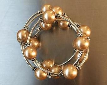 Champange Pearl Wrap Bracelet
