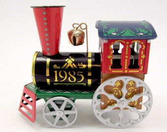 Hallmark Train Christmas Ornament Vintage Metal Tin Train Christmas Decoration