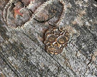 Star Sugar Skull Necklace